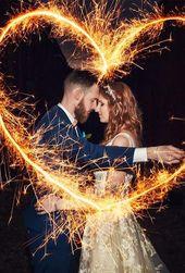 5 ungewöhnliche Fotoideen für Wunderkerzen & Tipps für Ihre Hochzeit ❤ Fotoideen für Wunderkerzen …
