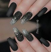 80+ Most Gorgeous Glitter Nails Ideas Include Acrylic and Matte Nails for Fall and Winter – Page 9 of 84