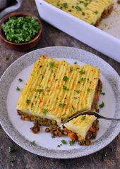 Vegan Shepherd's Pie mit Linsenfüllung. Dieses köstliche Wellne … – Vegane Rezepte