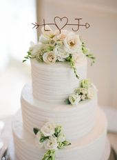 Weddings Tourterelle Floral Design ist Teil einer romantischen Hochzeitstorte – #Rom …   – weddings Arch