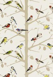 Sarahs Hauspuderraum {Bird Wallpaper Source