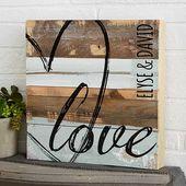 LIEBE 8 x 6 rustikale Holz Wandkunst