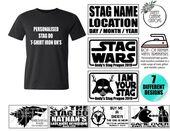Starwars Stag T-shirt iron on transfers, Bachelor Shirts, Stag party T-shirts, Bachelor Party Shirts, Game over stag,bachelor shirt transfer