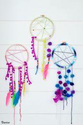 DIY Dream Catcher Craft för sommarläger