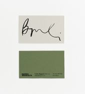 Illustrator Business Card Bagnoli Architects Business Cards by Ortolan