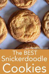 Klassische weiche und zähe Snickerdoodle-Kekse mit Zimt. Sie sind schnell …