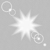 vektor transparent sonnenlicht spezialoptik flare lichteffekt durchscheinende sonne blitz mit strahlen und spotlight goldenen warmen fruhling oder sommer glanz vektorgrafik erstellen mac indesign
