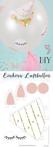 DIY Einhorn Luftballon selber basteln