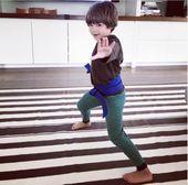 Thalia se jactó orgullosamente de que Mathew Alejandro logró su cinturón azul en karate.   – Cosas para comprar