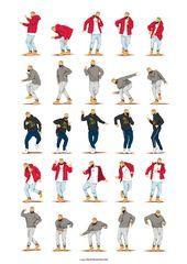 Hotline Bling Dance Music Poster, Dance Tutorial Illustration, Humorous Poster, Enjoyable Pop Artwork Wall Artwork, Hip Hop, Enjoyable Present for Her, Present for Him