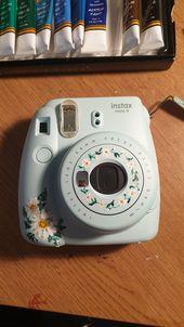 Painted instax Polaroid camera #vscogirl Acrylics acrylic paint Polaroid painting painted insta x instax