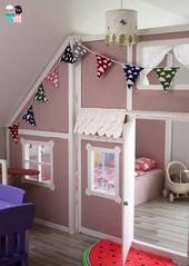 DIY – Ein Hausbett im Kinderzimmer – #chellisrainbowroom