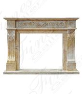 Marble Fireplaces – Regal Gold Marble Surround – M…