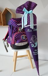 School bag mermaid, pearl diving bear