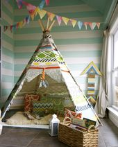 kids room. play idea DIY. wall paper. garland. cool. funny. boho. chic. toys. pl…