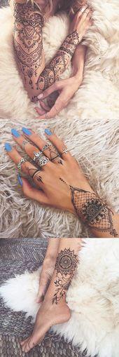 Sacred Geometric Mandala Tattoo Ideas for Women – Lace Black Henna Lotus Tatt – …