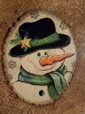 Decorative Rocks: Smiley Snowman von JulesPaints on Etsy #decorative #julespaint…
