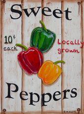 Sweet + Peppers + 8 + x + 10 + Print + von + Acryl + Painting + by + CherylMcNultyArt   – De todo un poco