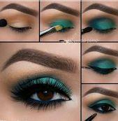 green eye makeup ideas step by step for beginners, Stunning matte eyeshadow look… #eye #eyemakeup #makeup #augenmakeup – Eye