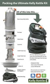 Best value in Kelly Kettle Kits as it includes camping kettle, camp stove, hobo stove and free solar lights