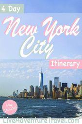 Eine 4-tägige New York-Reiseroute mit einigen der besten Dinge, die man in NYC unternehmen kann, einschließlich …   – AMERICAS ∆