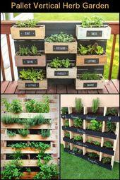 Pallet Vertical Herb Garden, #Garden #Herb #Pallet #Vertical