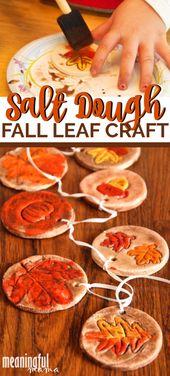 Fall Salt Dough Leaf Craft