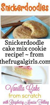 Snickerdoodle Cake Mix Plätzchen Rezept! ~ von thefrugalgirls.com ~ diese einfache kuchenmischung snickerdoodl 1