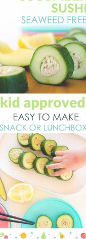 Cucumber sushi for kids, easy, healthy recipe to m…