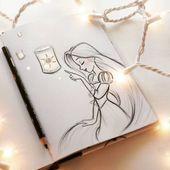 Meine Disney Zeichnung – Und endlich sehe ich das Licht … #tangled #rapunzel #sketch #disney. Nicht mei