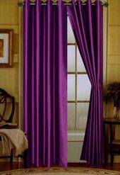 Details about 2 Piece of Faux Silk Curtain Grommet Panel 9 Diff Colors 58″W x 95″L