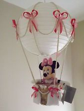Hot Air Balloon Lamp/light Shade. Minnie Mouse, Pink