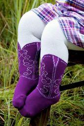Cowgirl-Stiefel-Strumpfhose   – babys