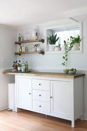 IKEA Hacks – DIY Bar Cabinet & Kitchenette