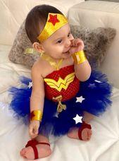 Marvel Child Tremendous Hero Tutu Traje (Bebé Mujer Maravilla Inspirado) Marvel Lady incluye vestido de tutú, tiara & brazalete