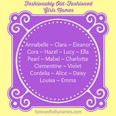 Beloved Baby Names: Fashionably Old-Fashioned Girls Names – Baby girl Kidd :)