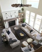 40 Beautiful Modern Farmhouse Living Room Decorating Ideas