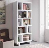 floor to ceiling shelving unit white