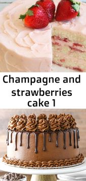 Champagne and strawberries cake 1 – Recipes
