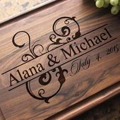 Personalized Engraved Cutting Board – Wedding, Anniversary, Housewarming, Birthday, Corporate Gift,