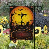 Halloween Celebration Decor — Wamika Halloween Garden Flags 12 x 18 Double Side…