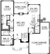 Ranch Plan: 1,540 Square Feet, 2 Bedrooms, 2 Bathr…