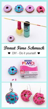 Make jewelry out of polymer clay donuts yourself – DIY instructions – Happy Dings – Happiness & DIY Blog – New Ideas