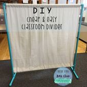 Make an inexpensive DIY room divider to provide your classroom boundaries