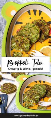 Broccoli Taler mit Parmesan – ein gesunder Snack   – Familienrezepte: Schnelle Rezepte, Ideen und gemeinsames Kochen