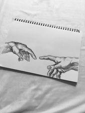 The Creation of Adam –  Art – #Adam #art #bleistiftzeichnungen #Creation