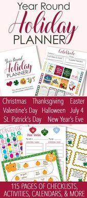 Printable Holiday Planner für ein Jahr voller Familienfeiern, #Feiern #Familie #Halloween … – Haloween