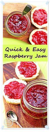 Quick & Easy Raspberry Jam – no pectin