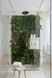 Design bathrooms and thereby create a tropical oasis