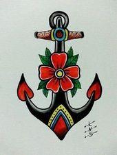 Beste Old School Tattoo-Ideen. Wir haben eine Fotogalerie mit coolen und bedeutenden …   – Tattoos ;)